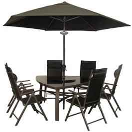 BillyOh Luxor Triangular 6 Seater Reclining Metal Garden Furniture Set
