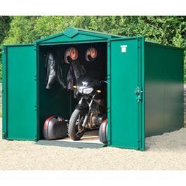 Motorcycle Garage Plus Ivory Metal Storage