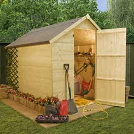 8' x 6' Billyoh Natural T and G Store Shed Wooden Shed
