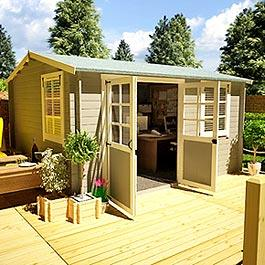 BillyOh Bristol Garden Office Log Cabin