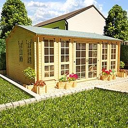 BillyOh Pioneer Brunel Log Cabin 16x12