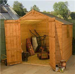 Garden Wooden Shed Billoyh Sherwood Apex 7' x 7'