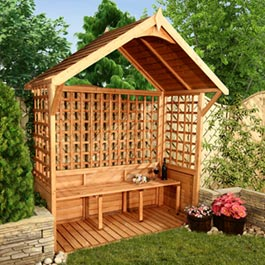 Luxury Garden Arbour Slatted Roof Pergolas and Arbour