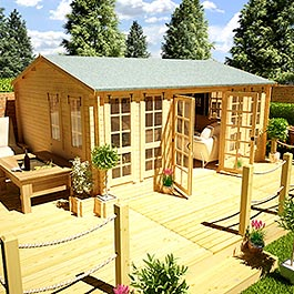Dorset Traditional 16' 4 x 12' 5 Log Cabin