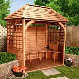 Luxury Garden Gazebo Slatted Roof Wooden Gazebo