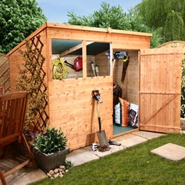 Wooden Shed BillyOh Lincoln Tongue and Groove Pent 8' x 6'