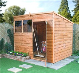 Garden Wooden Shed Billyoh Super Saver Overlap Pent 10' x 6'