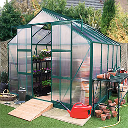 Rosette Complete Greenhouse 12' x 8' Metal Greenhouse