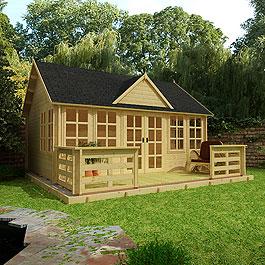 Log Cabin BillyOh Village Hall 44mm Double Glazed 5.5m x 5.5m