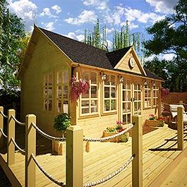 Log Cabin BillyOh Village Hall 44mm Double Glazed 5.5m x 4m