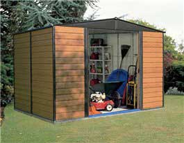 Metal Shed Billyoh Carlton Shiplap Steel Shed 8' x 6'