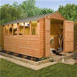 12' x 8' Billyoh Castle Overlap Workshop Wooden Shed