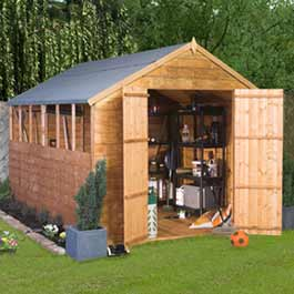 Castle Overlap 10 x 6 Wooden Shed
