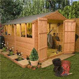 10 x 8 Castle TandG Workshop Wooden Shed
