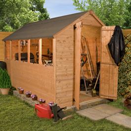 8 x 6 Economy Tongue and Groove Wooden Shed