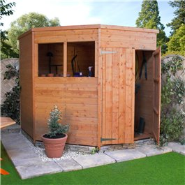 Wooden Shed Billyoh Corner 7' x 7'