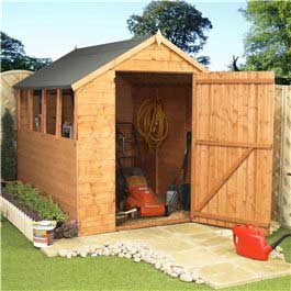 Wooden Shed BillyOh Apex 8'x6' X-large Door