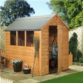 BillyOh GardenMate Deluxe Apex Shed 8' x 6' Wooden Shed