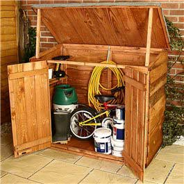 Garden Storage Billyoh Fully Opening Store Unit Wooden Storage