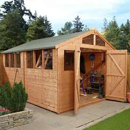 Garden Wooden Shed Billyoh Greenkeeper Workshop 10' x 10'