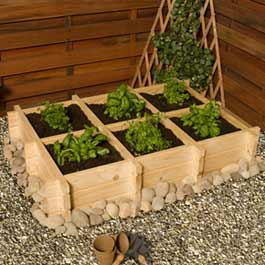 BillyOh Herb Garden Raised Bed Planters and Grow Bed