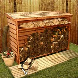 BillyOh Large Log Store with Kindling Shelf