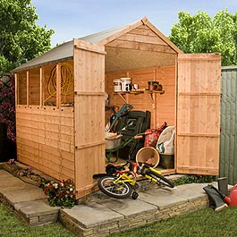 Garden Wooden Shed Billyoh Super Saver Overlap Apex 6' x 4'