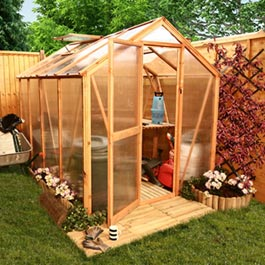 Billyoh Lincoln Greenhouse Package Deal 6' x 6' Wooden Greenhouse