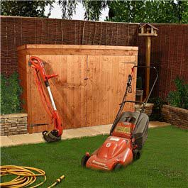 Garden tractor storage shed section sheds for Garden shed for lawn mower