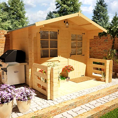 2.5 x 2.0m - BillyOh Pathfinder Nook Log Cabin
