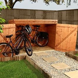 Pent Premium Bike Store Wooden Storage