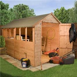 Large Popular Apex Wooden Shed
