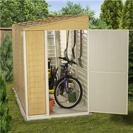 BillyOh Retford Premium Woodgrain Pent Plastic Sheds Inc Foundation Kit