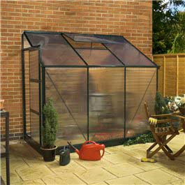 Lean-to Greenhouse Billyoh Rosette 6' x 4' Metal Greenhouse