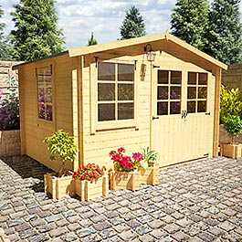 BillyOh Log Cabin - Billyoh Pathfinder Sportsman 3.24m x 2.61m