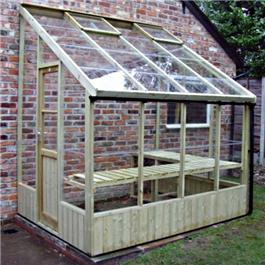 Swallow Dove Lean-To Pressure Treated Greenhouse