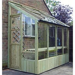 Swallow Finch Lean-To Pressure Treated Wooden Greenhouse