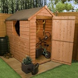 Wooden Shed Billyoh Traditional Economy Apex 6' x 4'