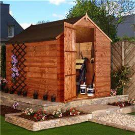 Garden Wooden Shed Billyoh Budget Overlap Store 6' x 6'