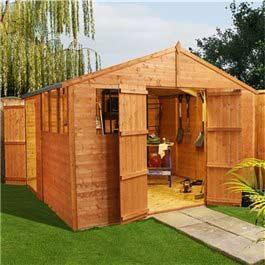 Billyoh Personnel Lincoln 10' x 10' Workshop Wooden Shed