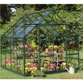 Halls Greenhouse - Green Aluminium Magnum Horticultural 10x8 Garden Greenhouse