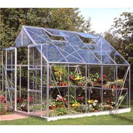 Halls Greenhouses - Silver Aluminium Magnum 10 x 8 Toughened Garden Greenhouse