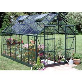 Halls Green Aluminium Magnum 12 x 8 Toughened Garden Greenhouse
