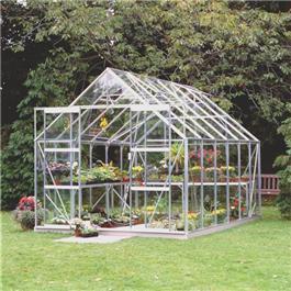 Halls Silver Aluminium Magnum 12 x 8 Toughened Garden Greenhouse