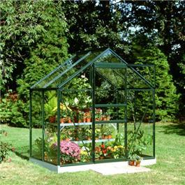 Halls Green Aluminium Popular 4 x 6 Metal Greenhouse