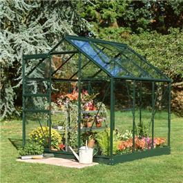 Halls Green Aluminium Popular 6 x 6 Metal Greenhouse