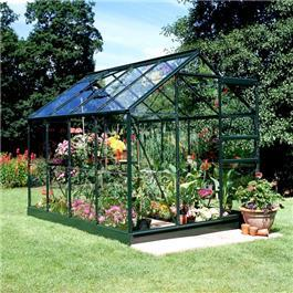 Halls Green Aluminium Popular 8 x 6 Metal Greenhouse