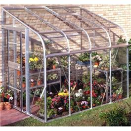 Halls Silverline 8 x 6 Lean to Greenhouse