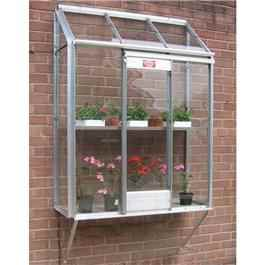 Elite Window Garden Silver Framed Greenhouse