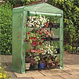 Gardman 4 Tier Extra Wide Greenhouse with Reinforced Cover